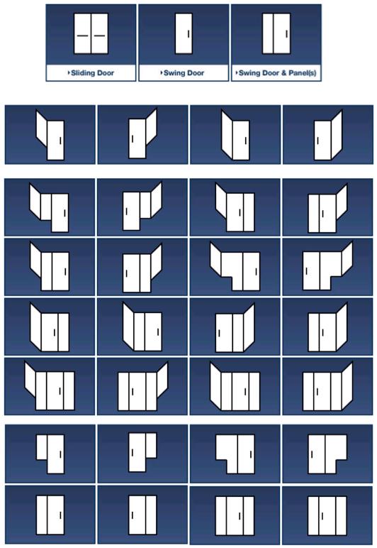 S. Albert Glass Shower Configurations